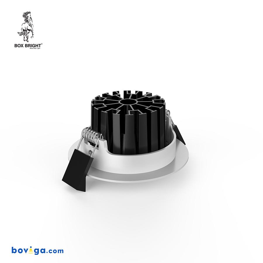 10W โคมไฟดาวน์ไลท์ฝังฝ้ารุ่น CL102B หน้ากว้าง 2.5 นิ้ว สีดำ | แบรนด์ BOX BRIGHT