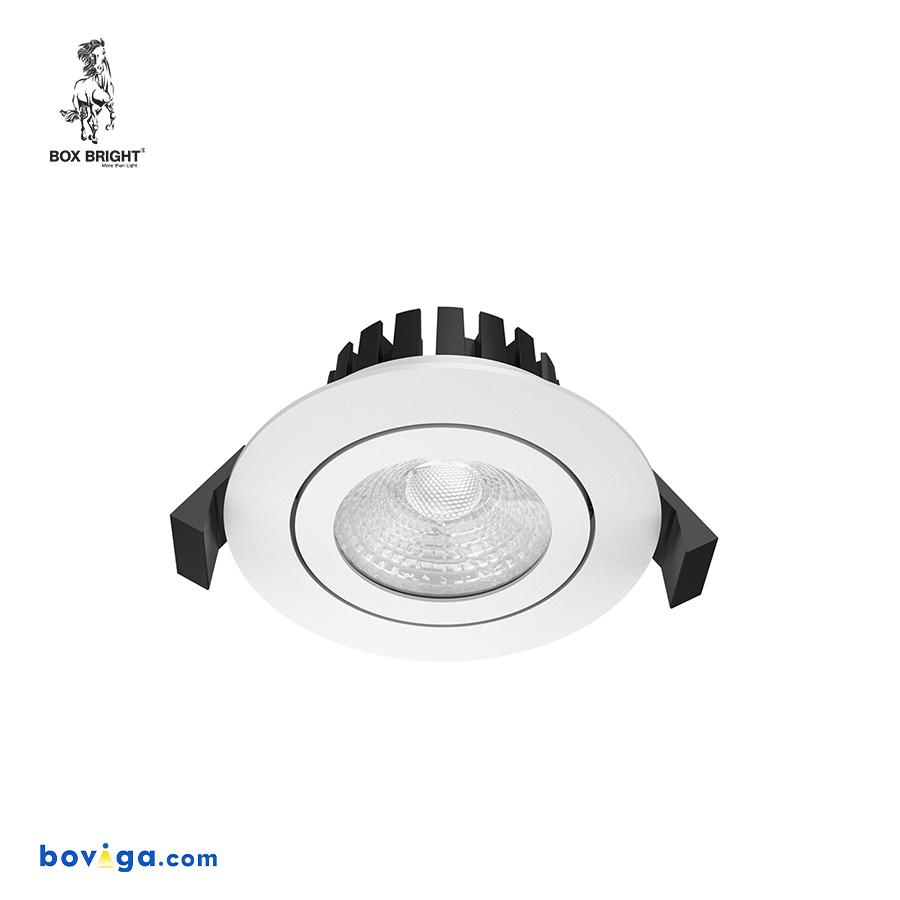 10W โคมไฟดาวน์ไลท์ฝังฝ้ารุ่น CL102B หน้ากว้าง 2.5 นิ้ว สีขาว | แบรนด์ BOX BRIGHT