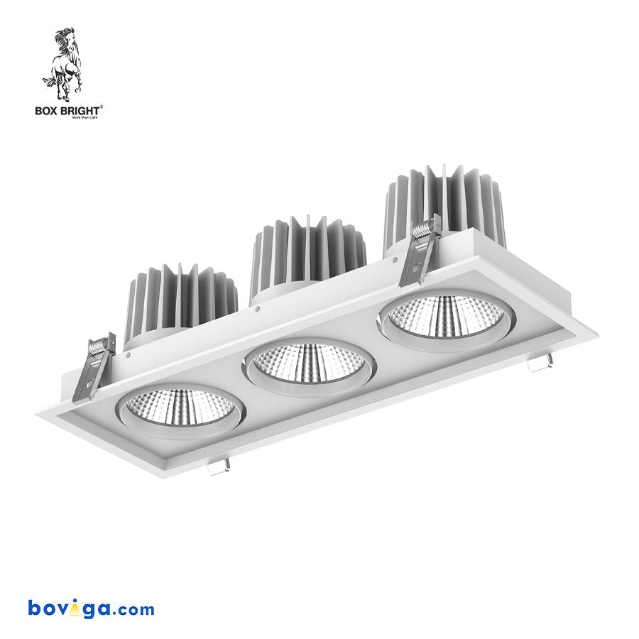 90W โคมไฟดาวน์ไลท์ฝังฝ้ารุ่น DL67 สีขาว | แบรนด์ BOX BRIGHT