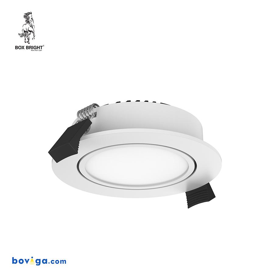 10W โคมไฟดาวน์ไลท์ฝังฝ้ารุ่น CL88 หน้ากว้าง 90 มิลลิเมตร สีขาว | แบรนด์ BOX BRIGHT