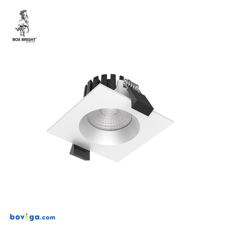 5W โคมไฟดาวน์ไลท์ฝังฝ้ารุ่น DL104A หน้ากว้าง 2.5 นิ้ว สีขาว | แบรนด์ BOX BRIGHT