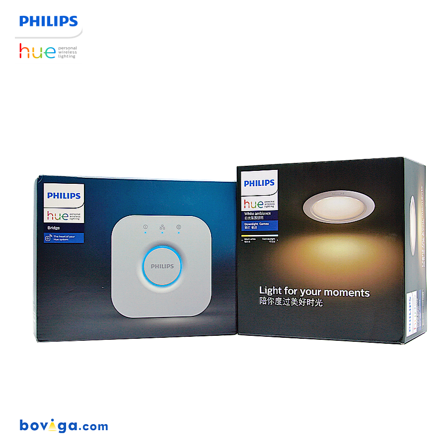 Philips Hue Downlight White Ambience Set with Bridge