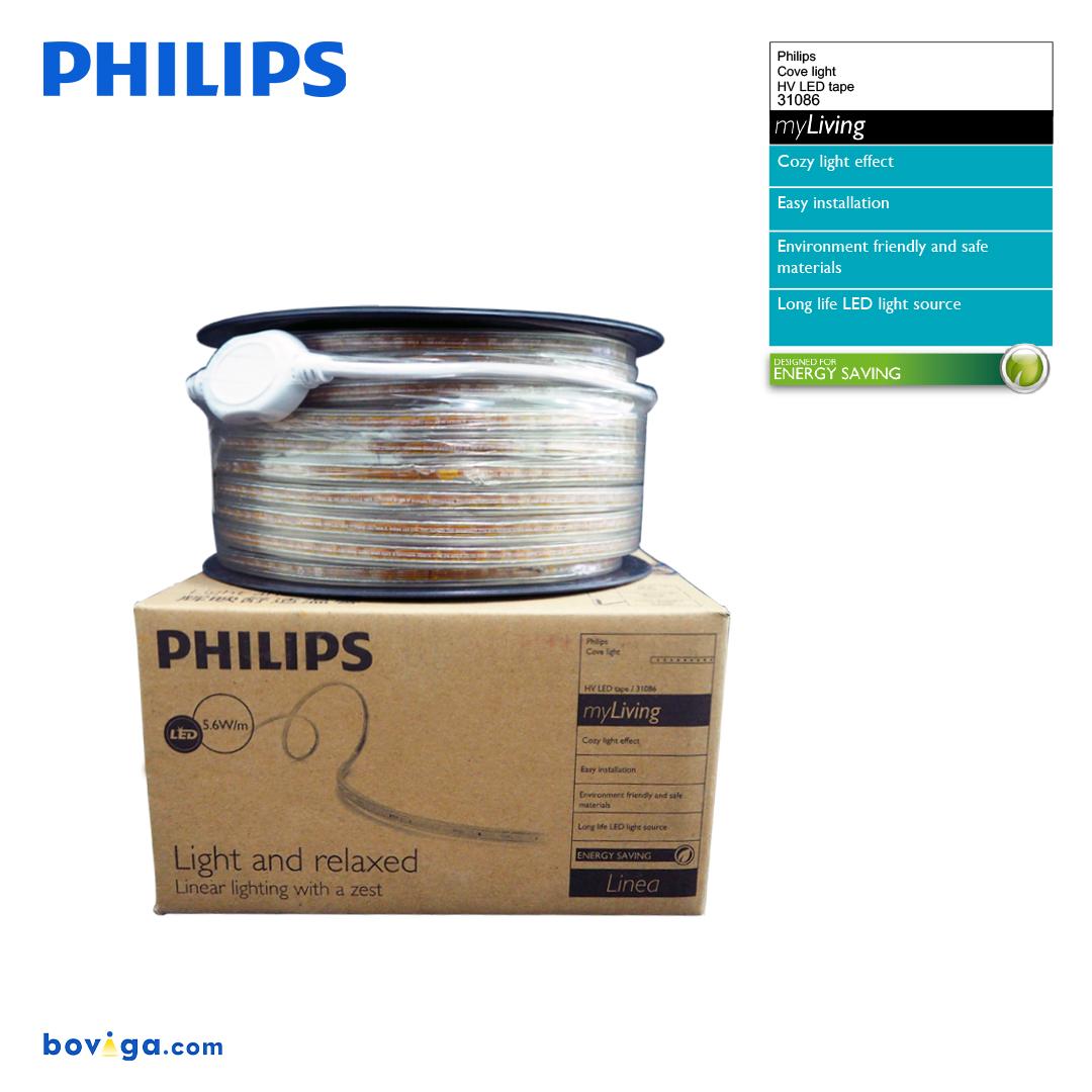 50 เมตร ไฟเส้นฟิลิปส์ แสงขาวส้ม 3000K Philips รุ่น DLI 31086 เมตรละ 6 วัตต์