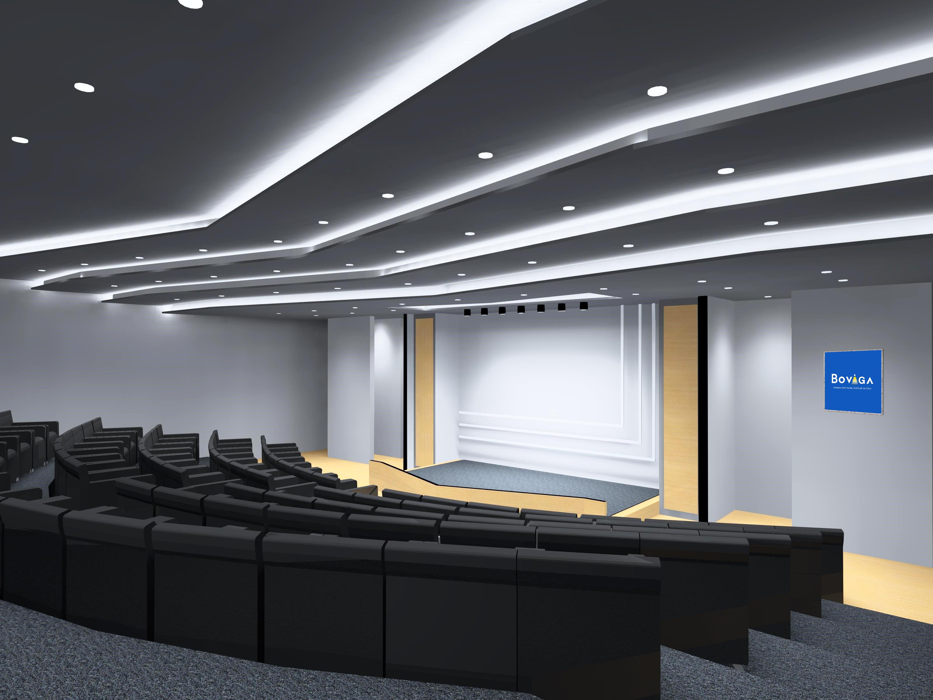 ตัวอย่างการติดตั้งโคมไฟห้องประชุม ด้วยชุดโคมไฟจาก BOX BRIGHT ให้ห้องสว่างสวยงาม
